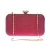 Aliado Faux Leather Maroon Twist Lock Minaudiere Style Sequined Clutch