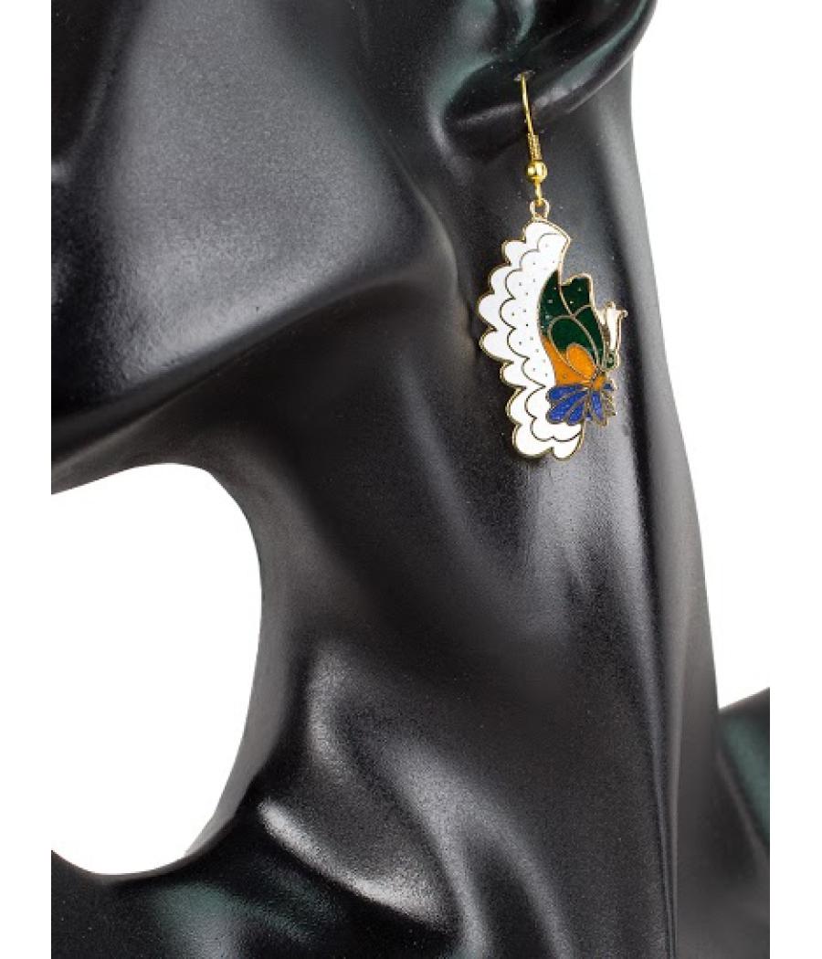 Fashion White Butterfly Earrings