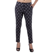 Estance Elephant Print Black Trousers