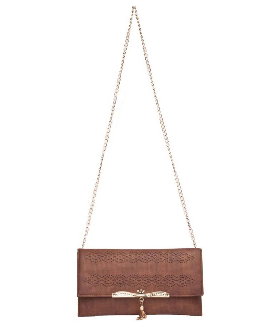 Envie Brown Coloured Sling Bag for Women