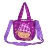 Envie Faux Fur   Purple   Coloured Zipper Closure Sling     Bag