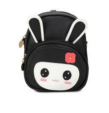 Envie Black Colour Printed Backpack for School Girls