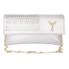 Envie Faux Leather Embellished Silver Magnetic Snap Closure Crossbody Bag