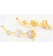 Gold Tone Hanging Ear Cuffs