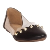 MCS Synthetic Leather Black Broad Toe Casual Flats for Women