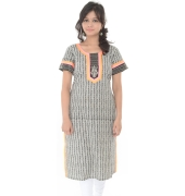 Black and White Printed Kurta