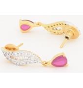 Pink Stone Hanging Earrings
