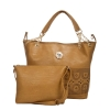 Aliado Faux Leather Solid Beige Zipper Closure Handbag