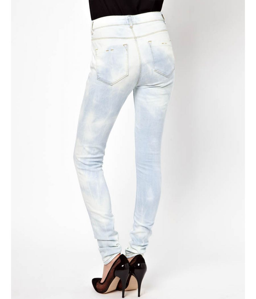 ASOS White & Blue Shaded Jeans