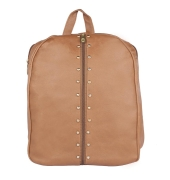 Aliado Faux Leather Brown  Coloured Zipper Closure Backpack