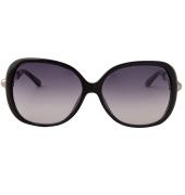 Karldi Oval Pearl Embellished Black Sunglasses