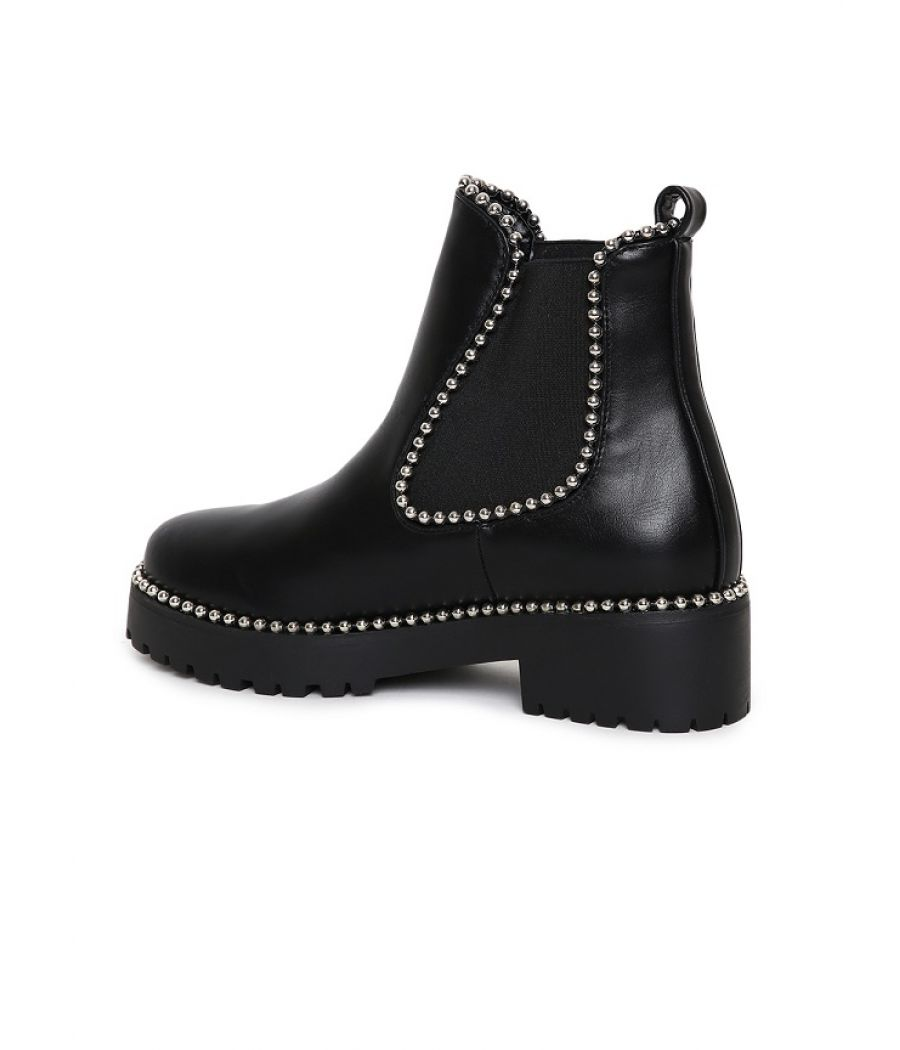 Estatos Black Coloured  Boots for Women