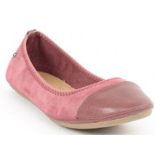 Estatos Faux Leather Walk cut tip design flat Foxy Pink bellies/shoes