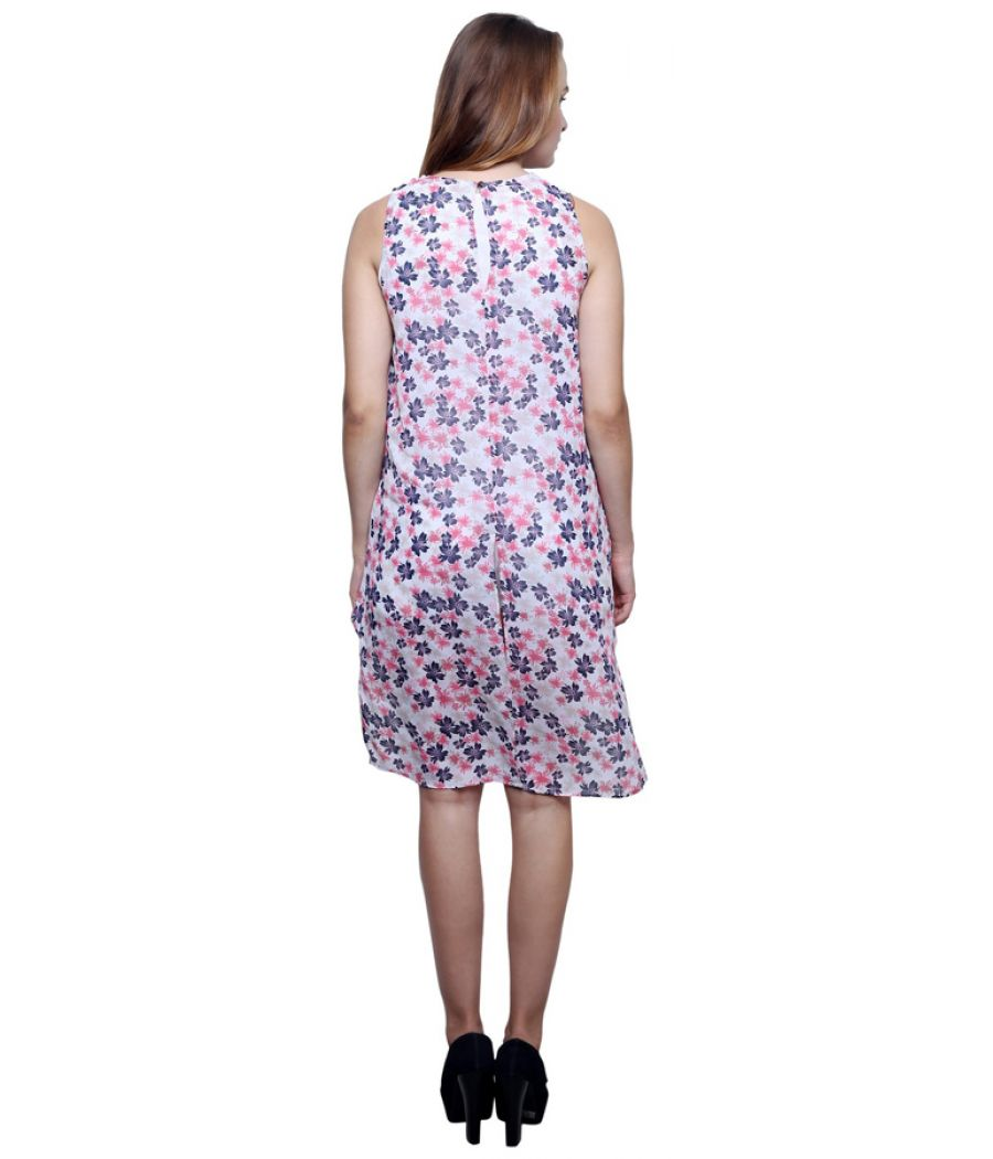 Estance Georgette Pink and Blue Floral   Tunic