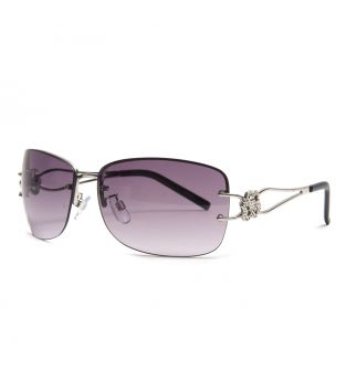 Parim Purple Square Sunglasses