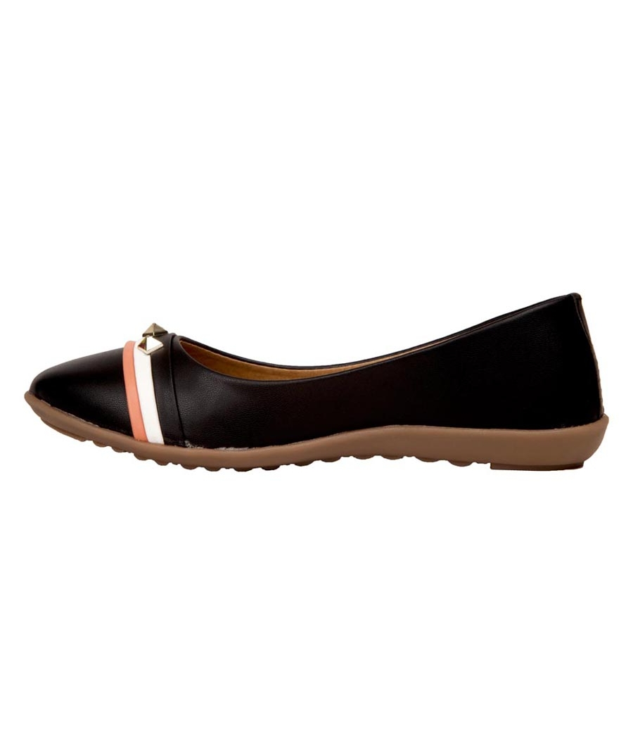 Rudra Collection Synthetic Leather Broad Toe Flat Bellies