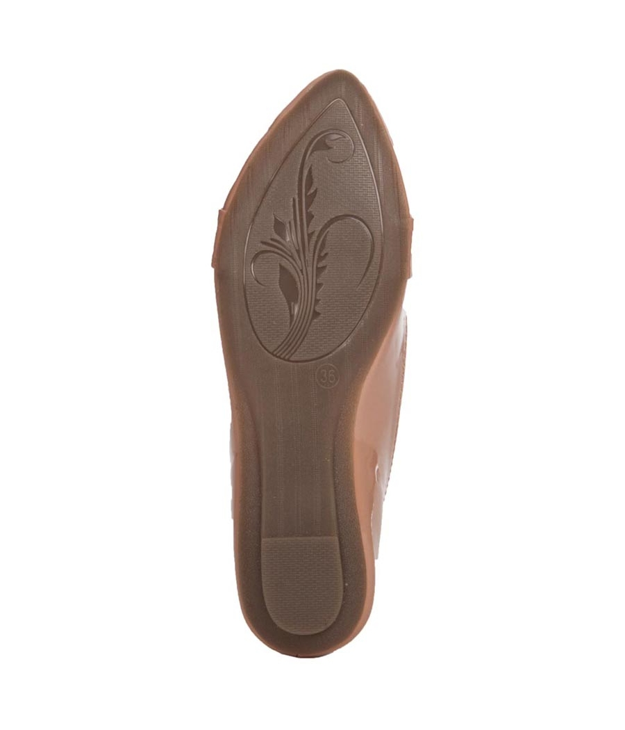 Aridev Enterprises Synthetic Leather Brown Coloured Belly Shoes