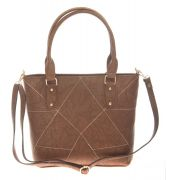 Aliado Faux Leather Solid Coffee Brown Zipper Closure Tote Bag for Women