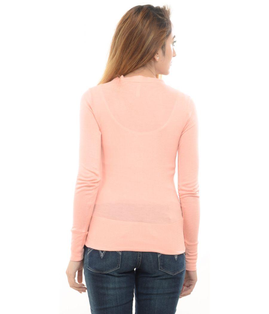 Estance Viscose Solid Light Pink Shrug