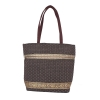 Aliado Jute Black and Brown  Coloured Zipper Closure Bag