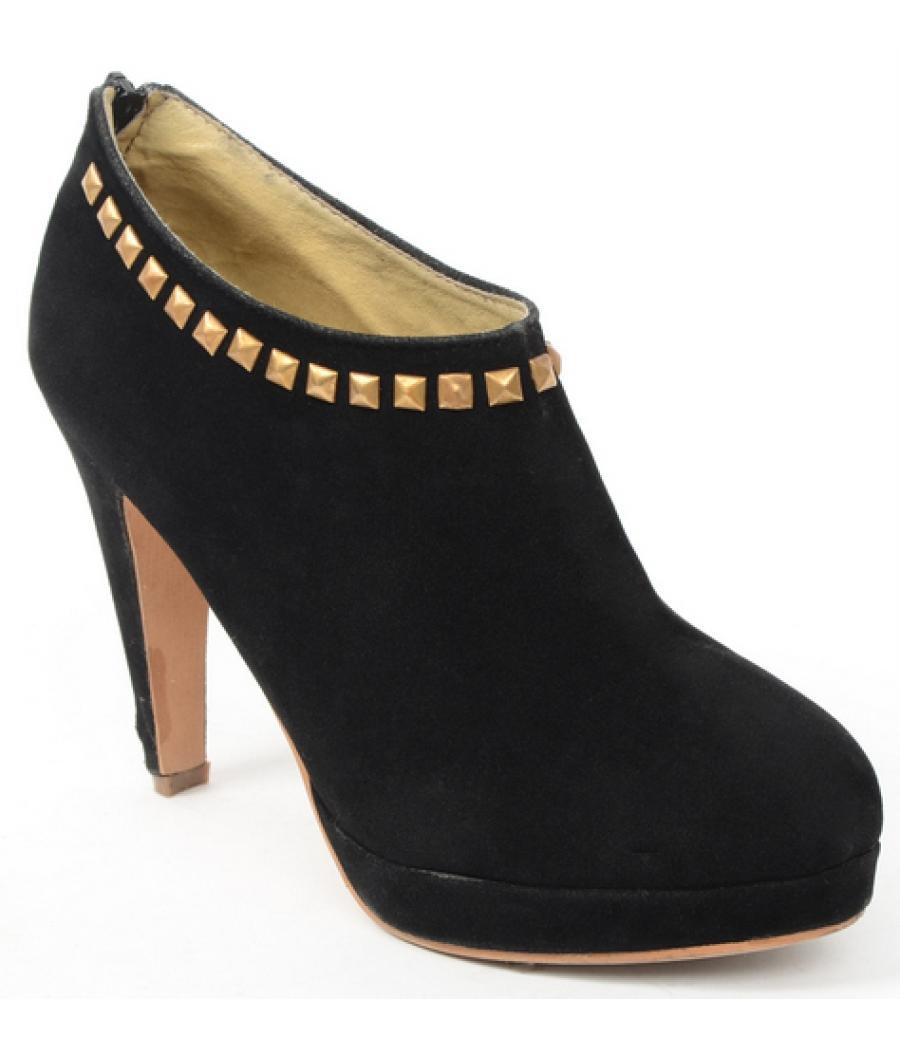 I-Shus Black Ankle Length Boots