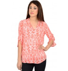 Zara Orange Printed Blouse
