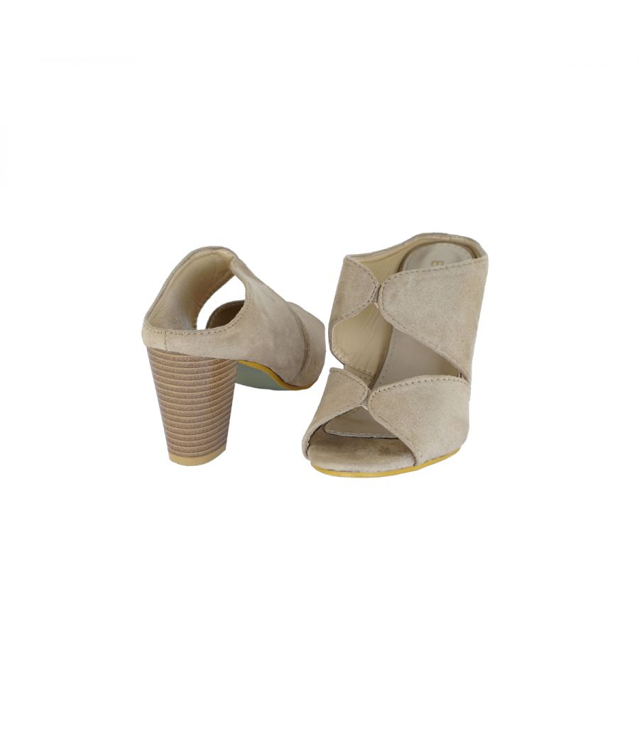 Estatos PU  Brown Coloured Open Toe Buckle Closure Platform Wedges