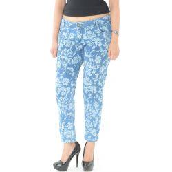 Optim Blue Printed Jeans