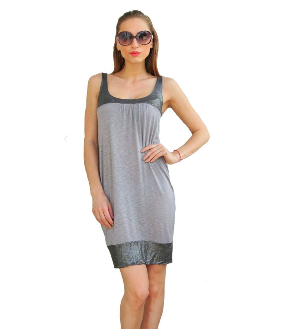 Oasis Grey Shimmery Dress