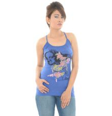 Ginger Polyester Printed Racer Back Top