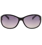Karldi Oval Embellished Black Sunglasses