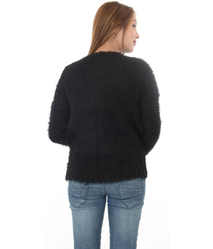 New Look Black Fluffy Sweater