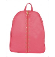 Aliado Faux Leather Pink Coloured Backback