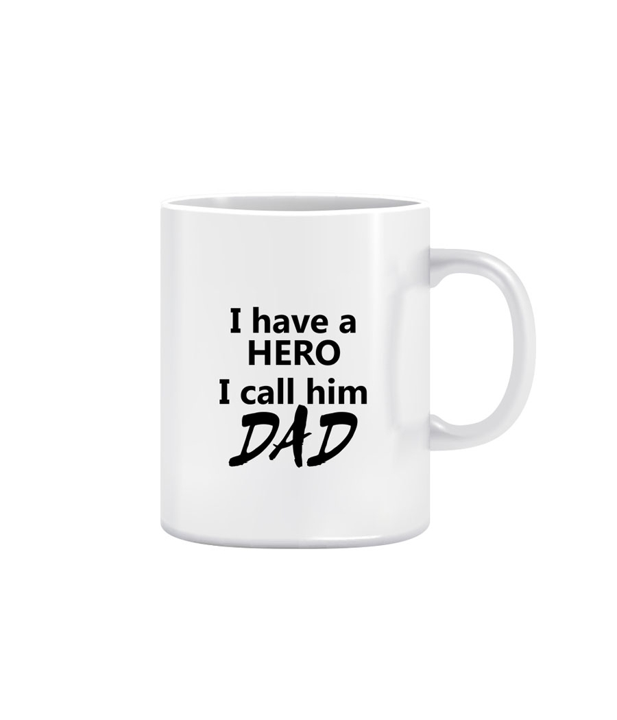 Joy N Fun-      DAD- Printed Coffee Mug, 320ml, White