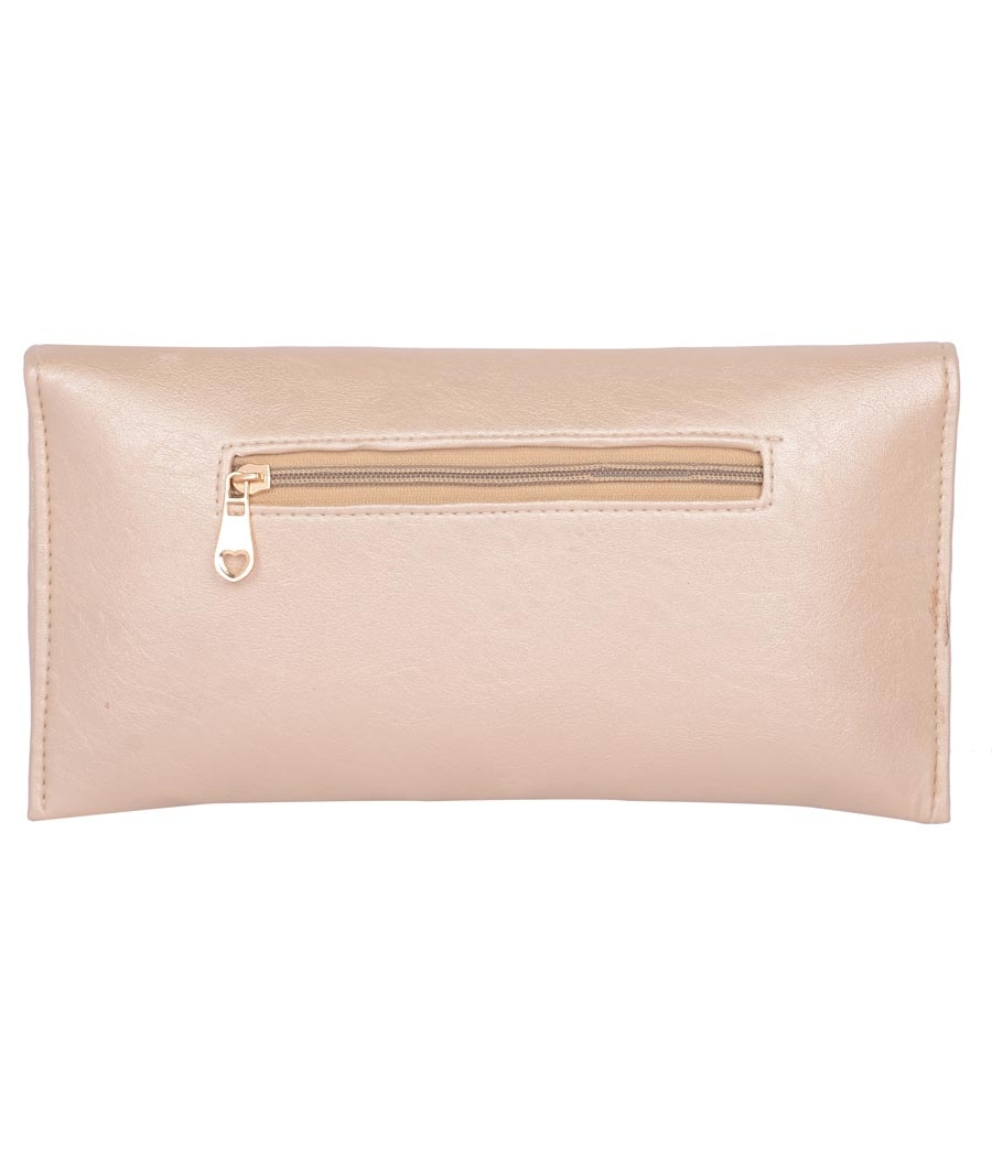 Envie Faux Leather Gold Coloured Magnetic Snap Sling Bag