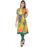 Multi Colour Cotton Kurta