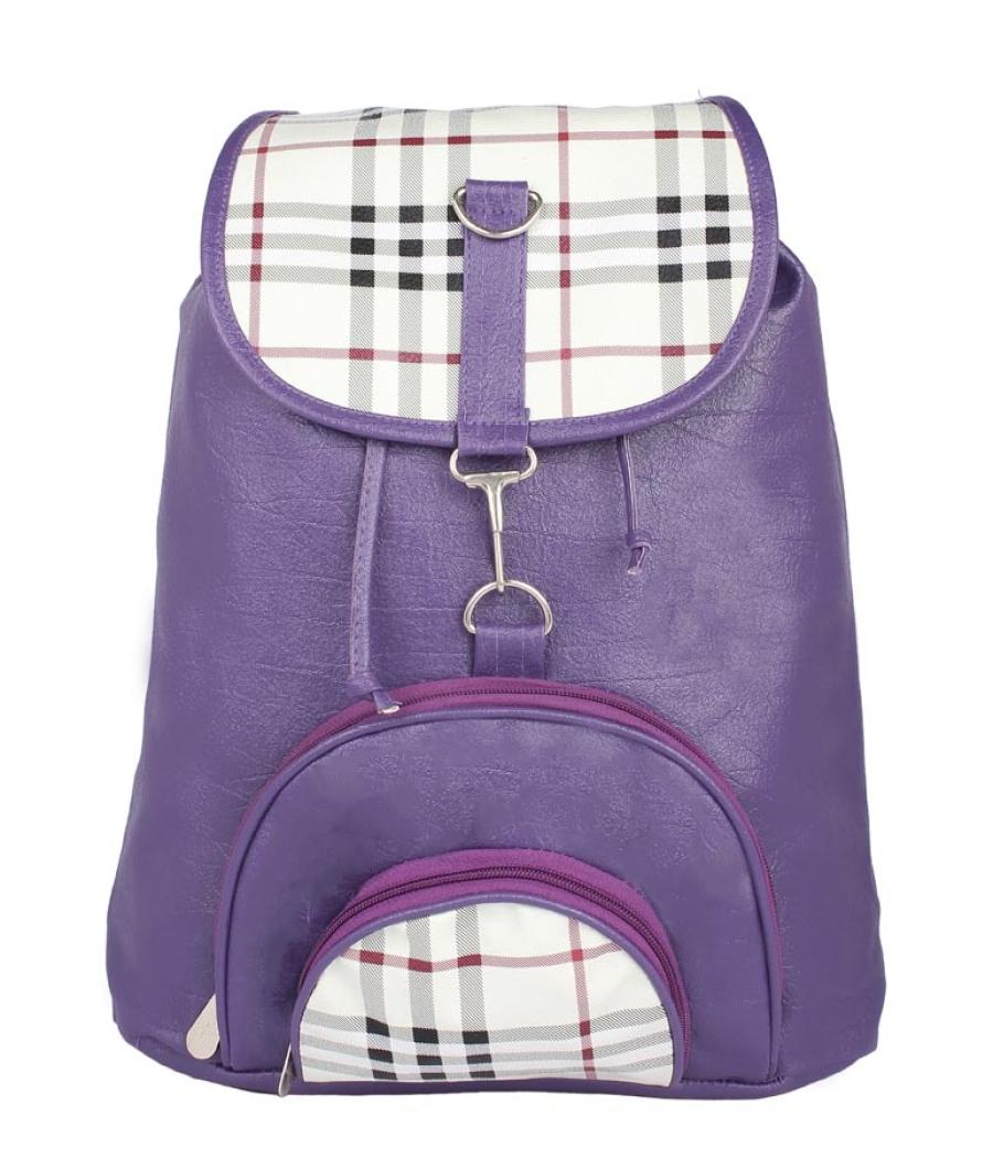 Aliado Faux Leather Purple Coloured Backback