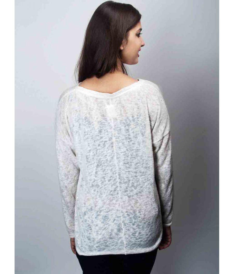 Zara White Sweater