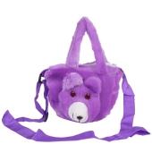Envie Faux Fur   Purple  Coloured Zipper Closure Bag