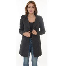 Zara Woollen Long Dark Grey Coat