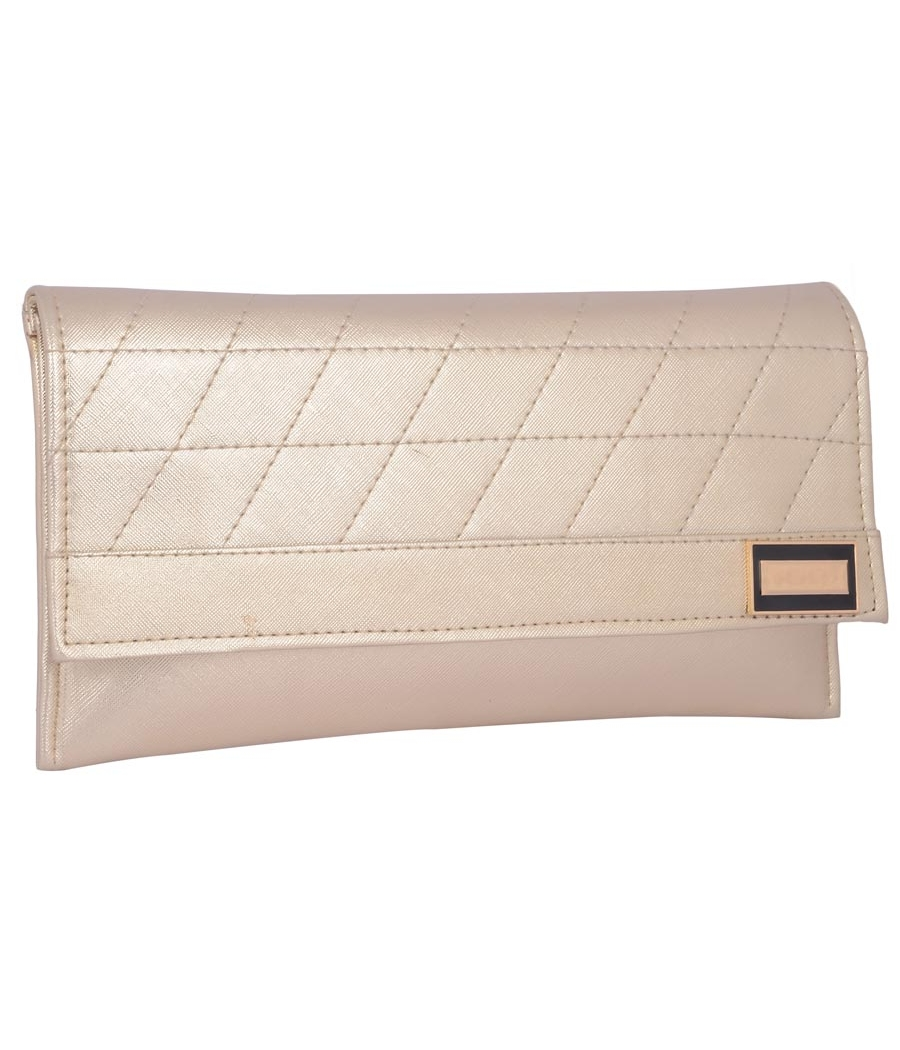 Envie Faux Leather  Silver Magnetic Snap Closure Crossbody Bag