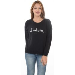 MISSGUIDED Black Sweater With Slogan J