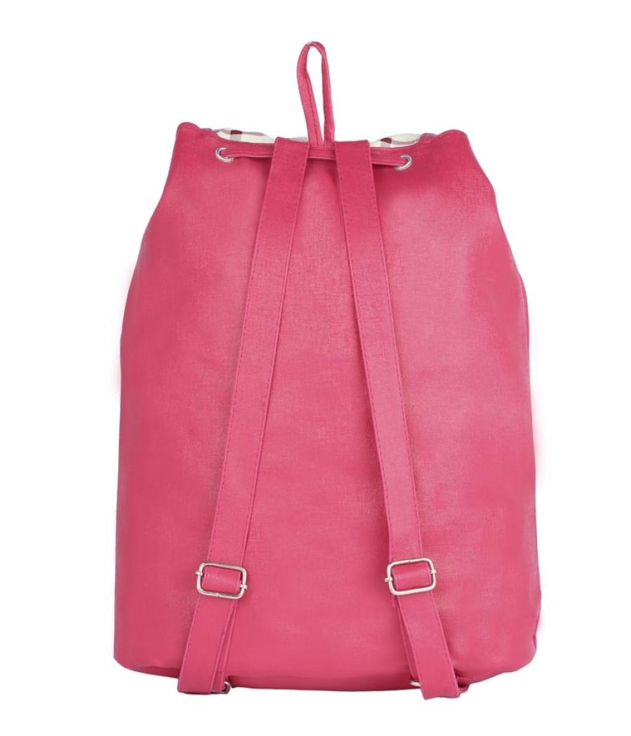 Aliado Faux Leather Pink Coloured Backback