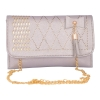 Envie Faux Leather Siilver   Magnetic Snap Closure Sling Bag