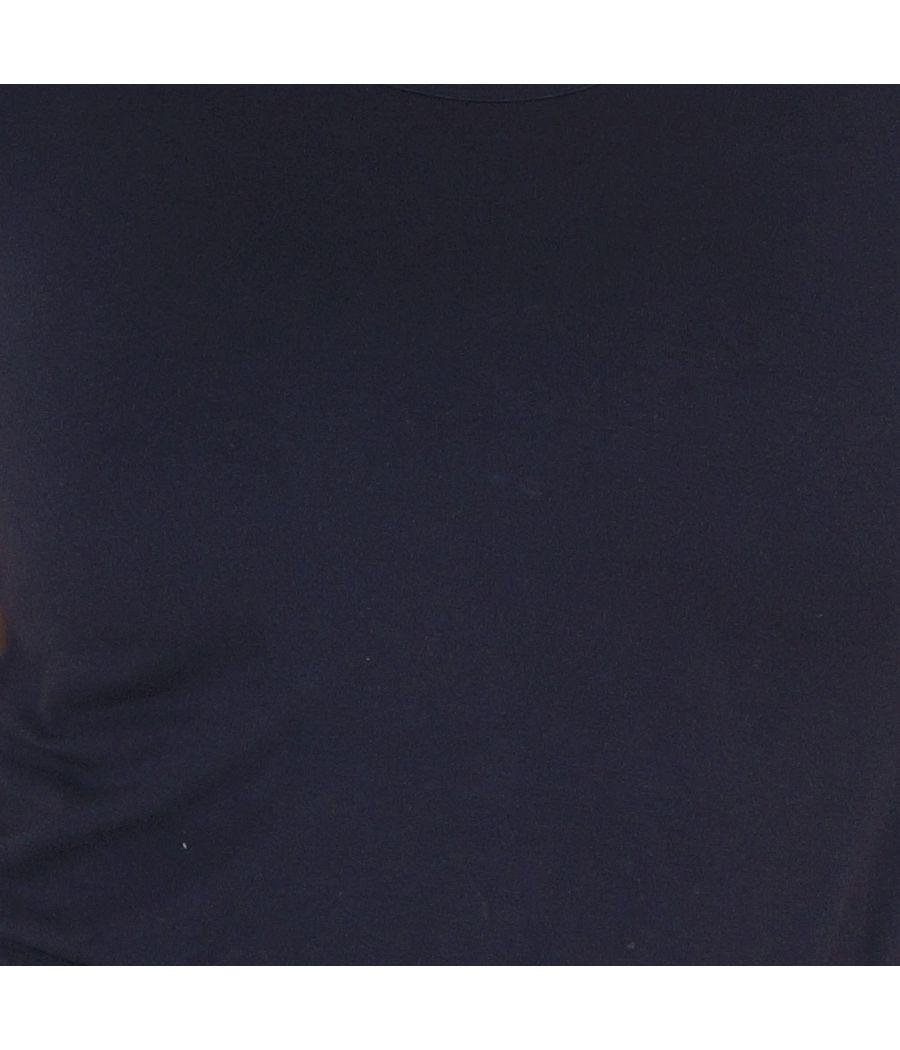 Lee Cooper Hosiery Plain Black Round Neck Casual Top
