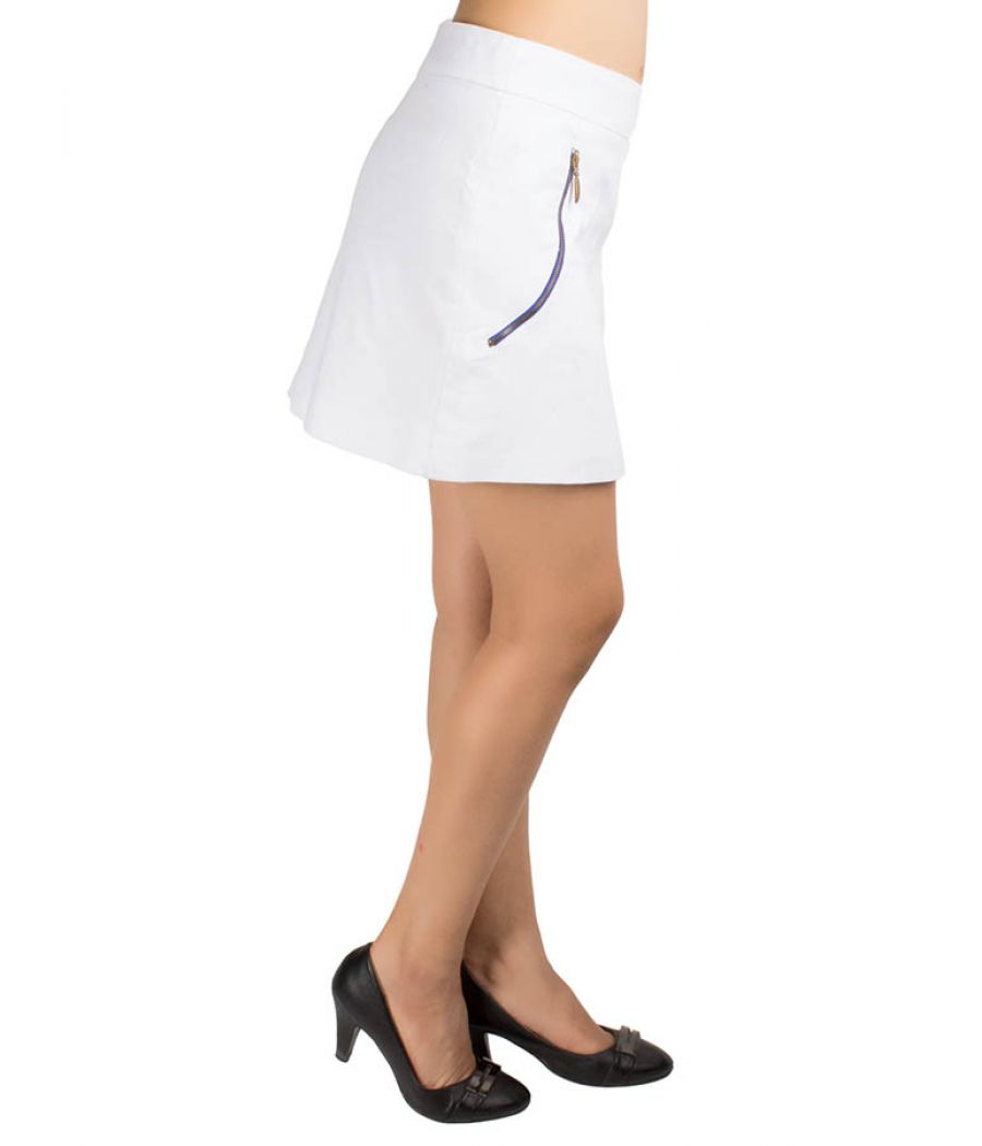 Zara Collection White Skirt With Zips