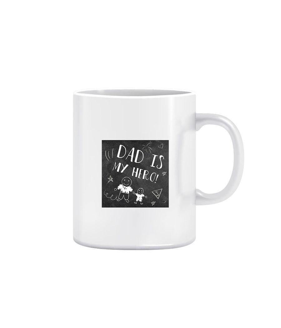 Joy N Fun -DAD is my  HERO-  Printed Coffee Mug, 320ml, White