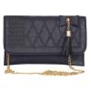 Envie Faux Leather Black   Magnetic Snap          Closure Sling Bag
