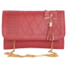 Envie Faux Leather Maroon  Magnetic Snap Closure Sling Bag