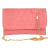 Envie Faux Leather Peach Magnetic Snap Closure Sling Bag